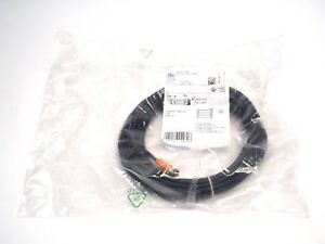 IFM EVC152 Female 4 Wire Black Cordset M8 Female 50VAC/60VDC 3A