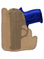 Barsony Tan Leather Gun Pocket Holster Seecamp Colt Small Mini 22 25 380
