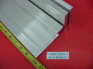 "4 Pieces 3/8"" X 4"" ALUMINUM 6061 FLAT BAR 10"" Long T6511 .375"" Plate Mill Stock"