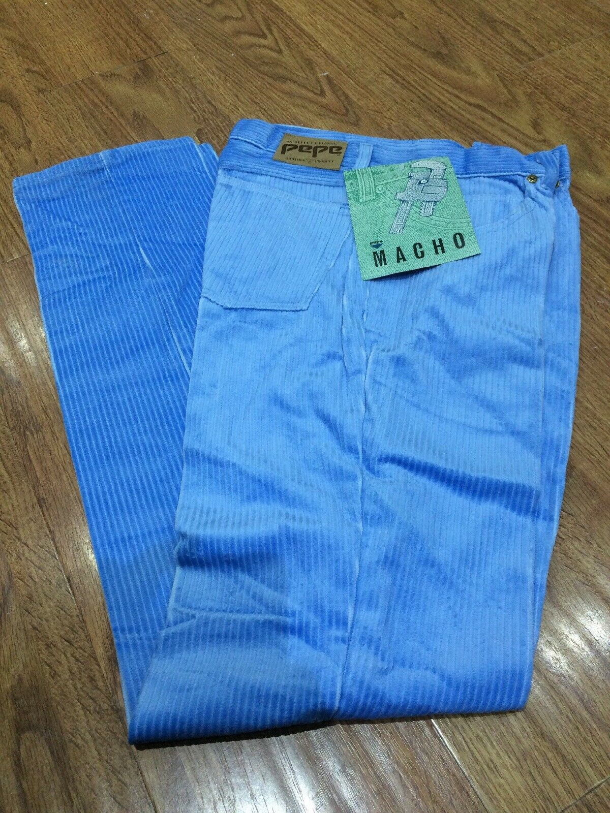 New PEPE Cords, Sky bluee, Collectible, From The 80's