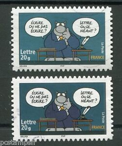 FRANCE-2005-VARIETE-COULEURS-timbre-3831-LE-CHAT-oblitere-VARIETY-USED-STAMP