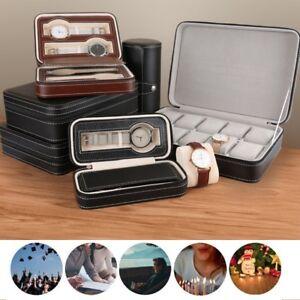 Portable 10/12 Grids Travel Watch Box Superior PU Leather Storage Case Organizer