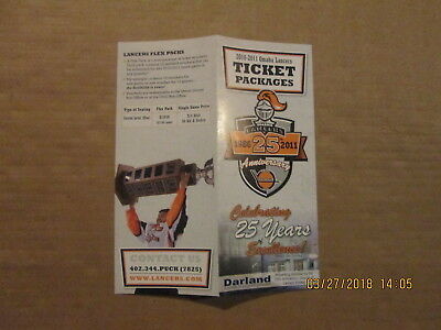 Fan Apparel & Souvenirs The Cheapest Price Ushl Omaha Lancers Vintage 2010-2011 25th Anniversary Season Ticket Brochure 2019 Latest Style Online Sale 50% Hockey-other