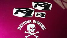 R1 BLACK SET NOSE & CONE SEAT UNIT DECALS STICKERS GRAPHICS