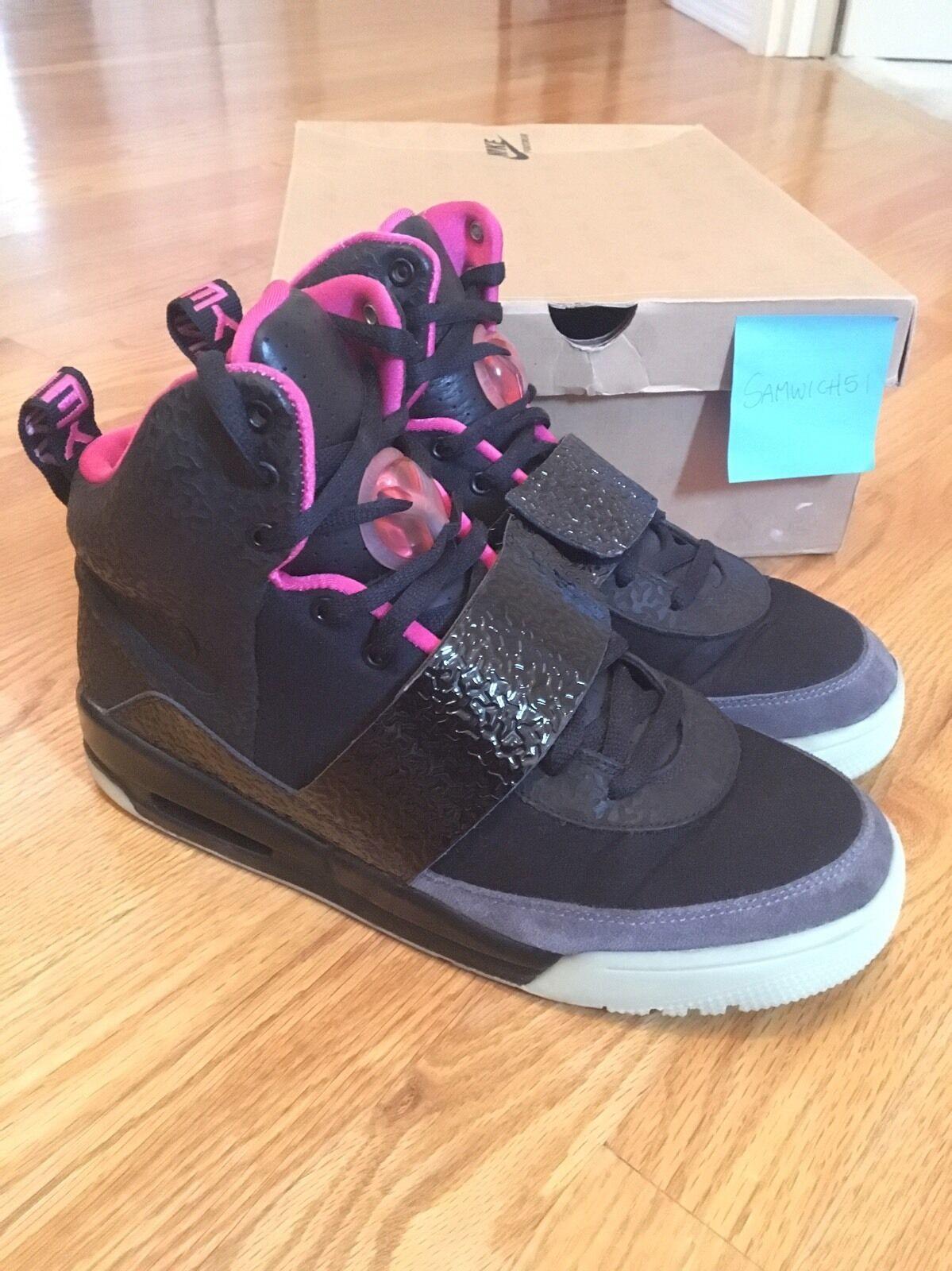 2009 Air Yeezy 1 Blink Black Pink Kanye West Size 11