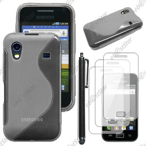 Housse-Etui-Coque-Silicone-Gris-Samsung-Galaxy-Ace-S5830-Stylet-3-Films