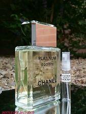 CHANEL PLATINUM EGOISTE EDT* DELUXE GLASS 5 ML SAMPLE DECANT CLASSIC YET MODERN