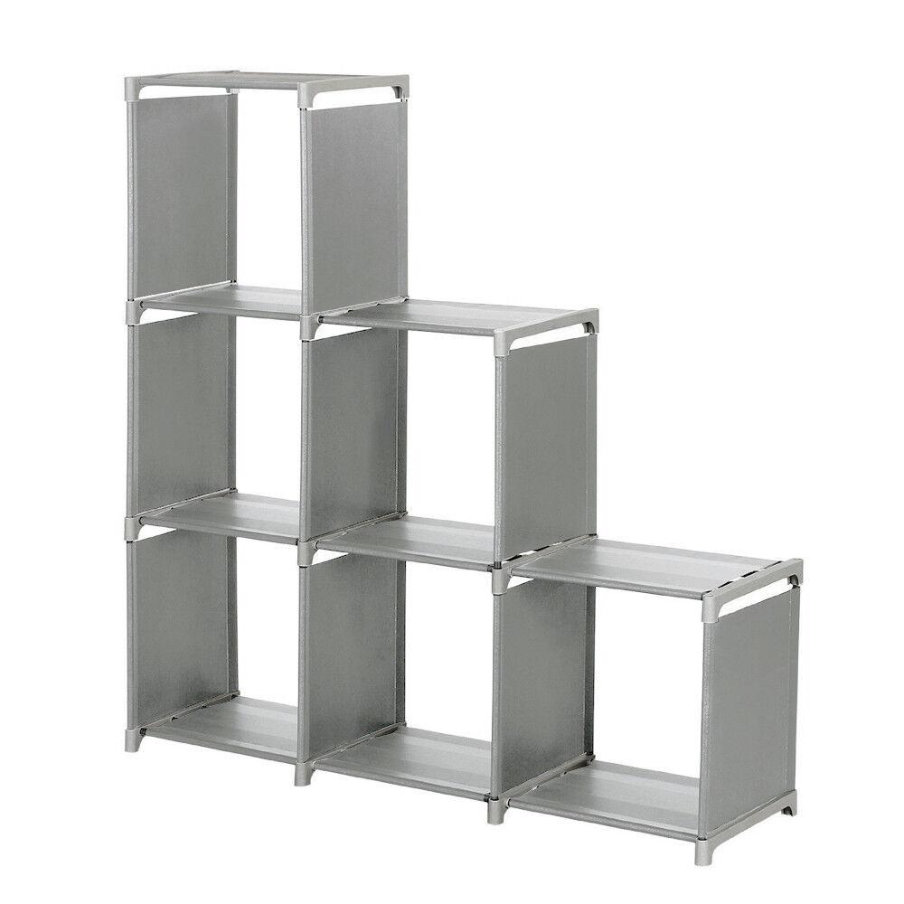 8 Cube Storage Organizer Wooden Closet Box Durable Furniture Wardrobe Shelf