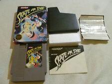 BOXED NINTENDO NES GAME VIDEO SKATE OR DIE COMPLETE W BOX & MANUAL CIB ULTRA