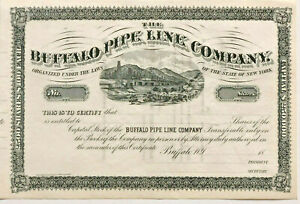 Buffalo-Pipe-Line-Company-gt-1800s-New-York-oil-amp-gas-pipeline-stock-certificate