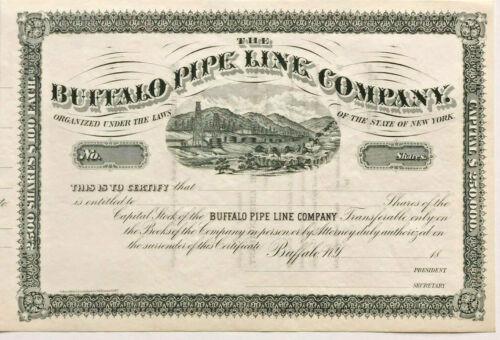Buffalo Pipe Line Company /> 1800s New York oil /& gas pipeline stock certificate