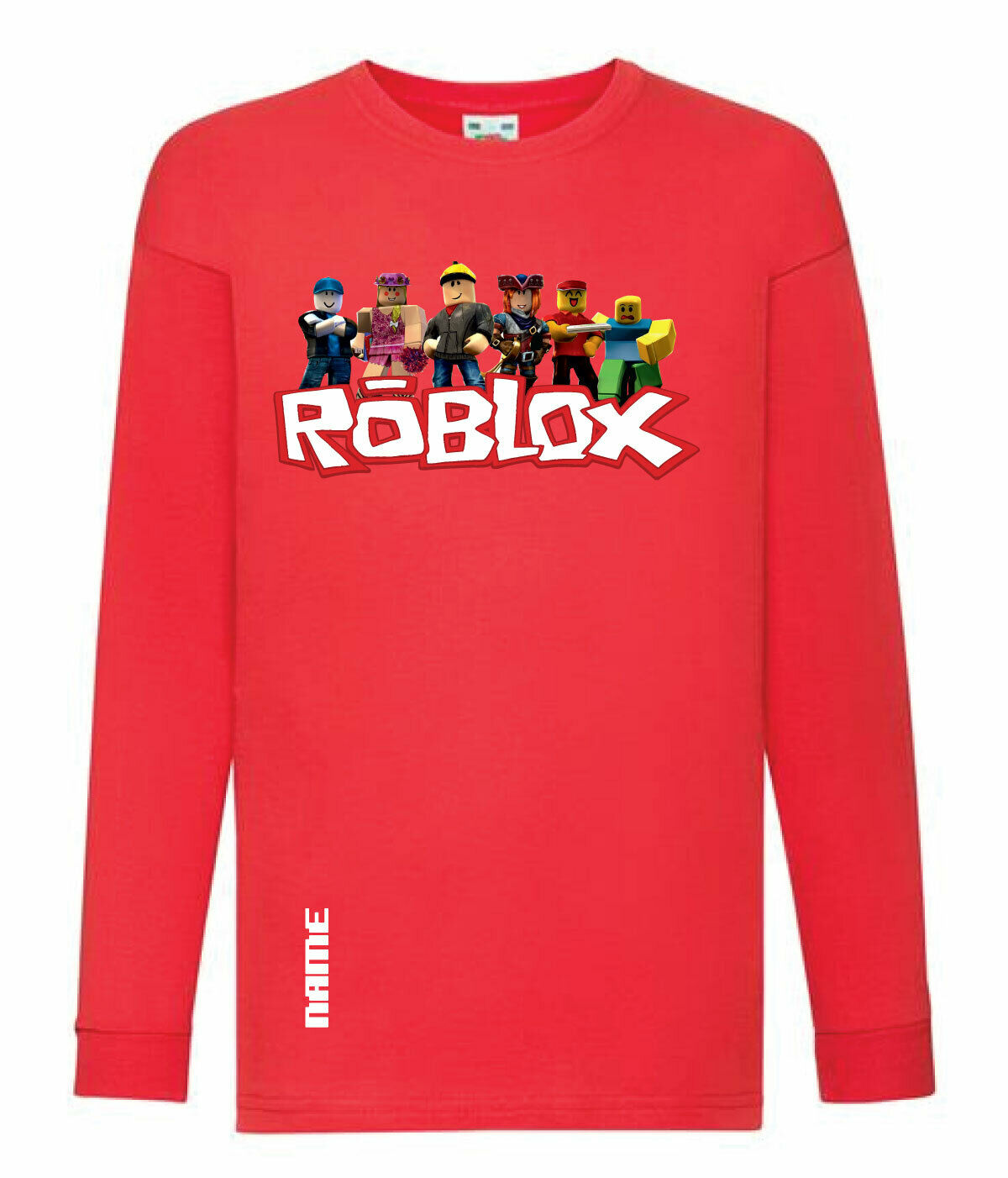 t-shirt personalise it with a name Red Roblox hooded top Roblox hoodie
