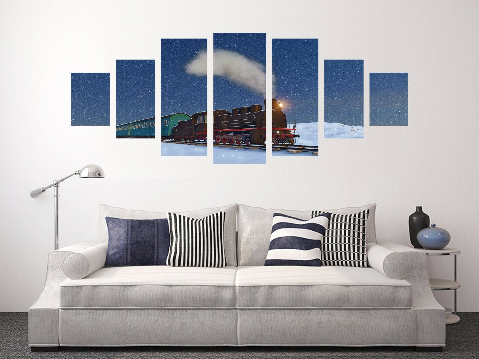 3D Train Snow Road 72 Unframed Print Wall Paper Decal Wall Deco Indoor AJ Jenny