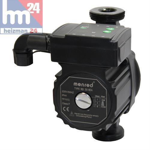 MenROT hocheffiziente Umwälzpumpe 180mm RS 25/6 EA Energiespar Pumpe