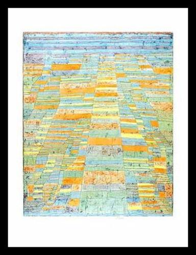 Paul Klee Hauptweg und Nebenwege Poster Bild Kunstdruck im Alu Rahmen 80x60cm