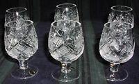6 Russian Crystal Shotglasses Glasses. 1.7oz (50 Ml). 5290 4