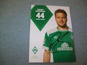 Details about Werder Bremen Autograph Card Philipp bargfrede Season 1819 Original Signed show original title