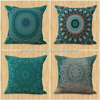 Set Of 4 Cushion Cover Tibetan Buddhism Mandala Outdoor Furniture Cushion