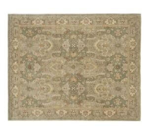 Old-Handmade-Traditional-GreenPersian-Oriental-Style-100-Wool-Area-Rug-amp-Carpet
