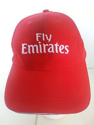 Fly Emirates Airline Red Ball Cap Hat