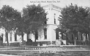 SYLVAN-LAKE-HOTEL-Rome-City-Indiana-ca-1910s-Vintage-Postcard-Antique