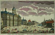 AMSTERDAM - Königspalast - Martin Engelbrecht - kolorierter Kupferstich 1750