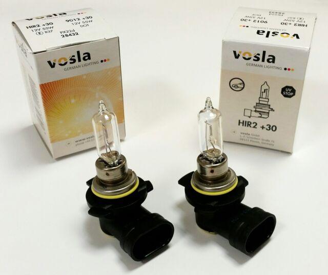 2er Set Halogen Lampe Vosla HIR2 +30% mehr Licht 55W 9012 PX22d Made in Germany