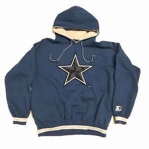 513540786 VINTAGE 90 S MEN S DALLAS COWBOYS SCRIPT STARTER HOODIE SWEATSHIRT ...