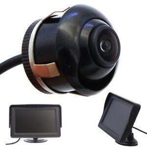 Rueckfahrkamera-verstellbare-Linse-12V-PKW-Auto-Heck-Stossstange-Cinch-Monitor-4-3