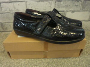 WOMENS PADDERS BLACK PATENT LEATHER
