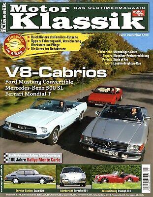 Zeitschriften Motor Klassik 2011 1/11 Renault R4 Mustang 289 Mondial T 500sl 107 Buick Riviera Waren Jeder Beschreibung Sind VerfüGbar