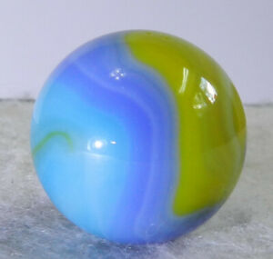 #11302m Vintage Vitro Agate Parrot Shooter Marble .88 Inches