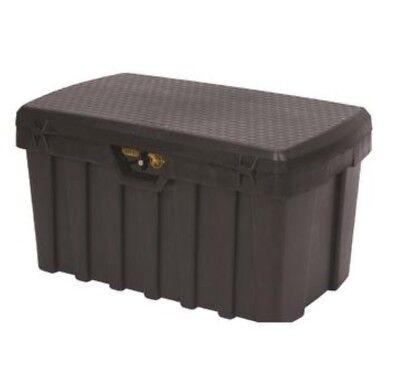 Large 53 Gallon Heavy Duty Black Tuff, Storage Box With Lock