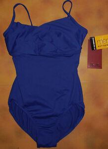 db2f873df3a4 NWT Dance Mirella Blue Cami Leotard Cross Bust Ladies Sm Adult ...