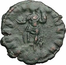 Julian II as Caesar in military dress w globe & spear 355AD Roman Coin i32781