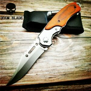 Quick-Open-Knives-Folding-Knife-Survival-Tactical-Combat-Camping-with-Led-Light