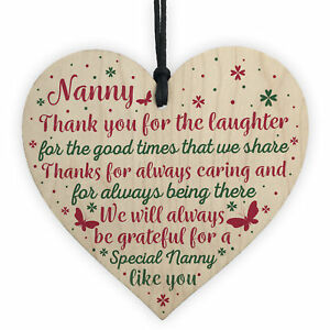 Image Is Loading Nanny Gifts For Christmas Heart Thank You Nan