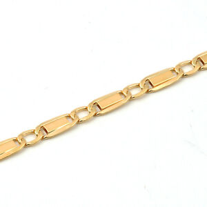 """MARINER ITALIAN CHAIN Solid Yellow Gold 18K men/'s bracelet 8.5/"""" MADE IN ITALY"""