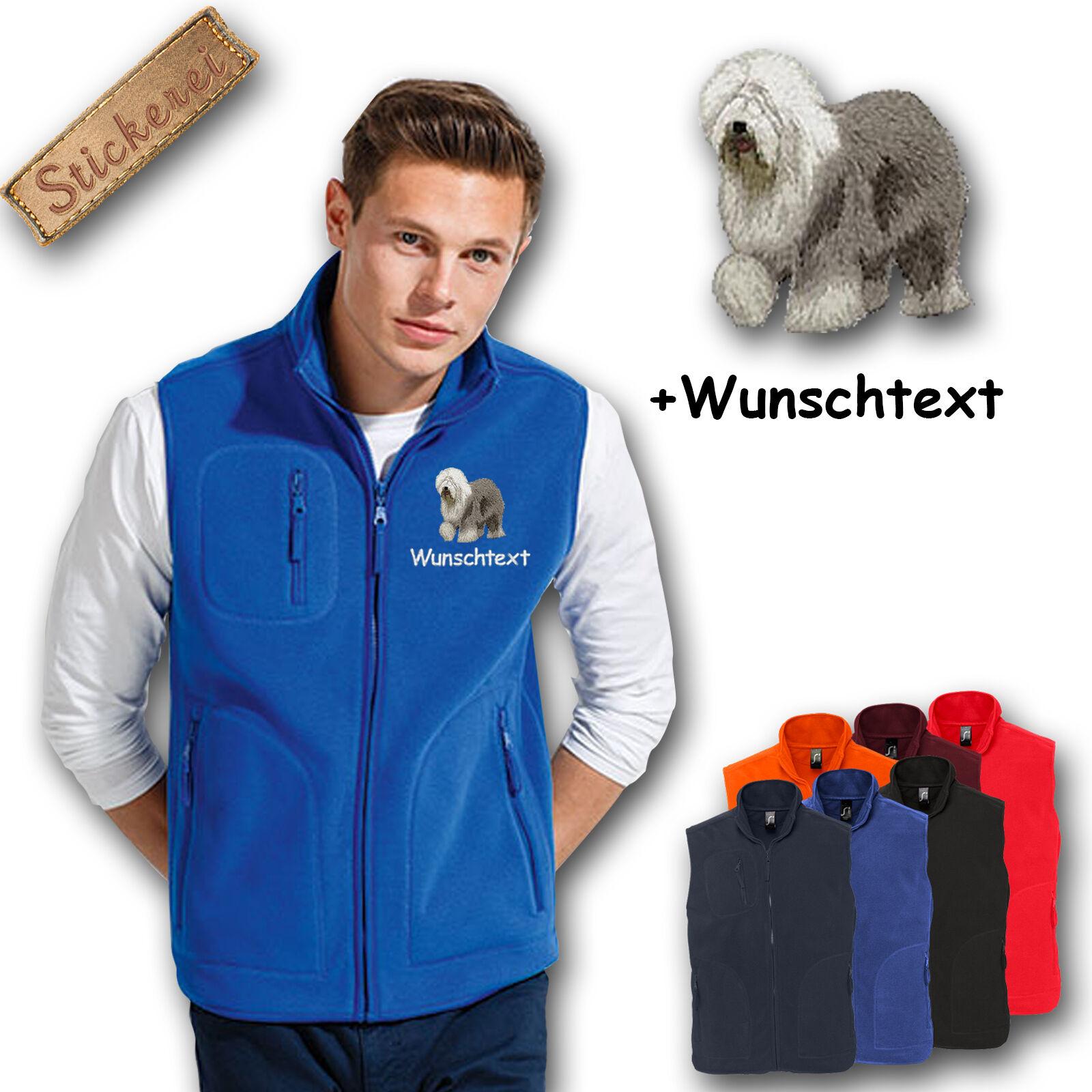 Fleece vest Fleece Vest embroidered Embroidery Bobtail + Name