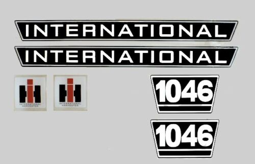 IHC mc cormick tractor pegatinas International 1046 Emblem