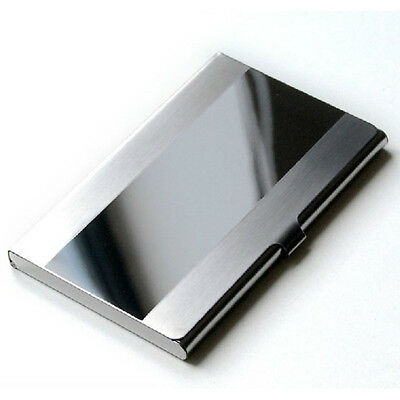 Aluminium New Stainless Steel Business ID Name Credit Card Holder Case Silver