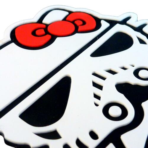 Hello Kitty Star Wars PVC stormtrooper 3D rubber starwars hook-and-loop patch