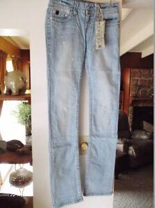 NEW-Women-039-s-Jeans-R-E-U-S-E-Stretch-Denim-28-034-Waist-X-32-034-Inseam-Embroidered