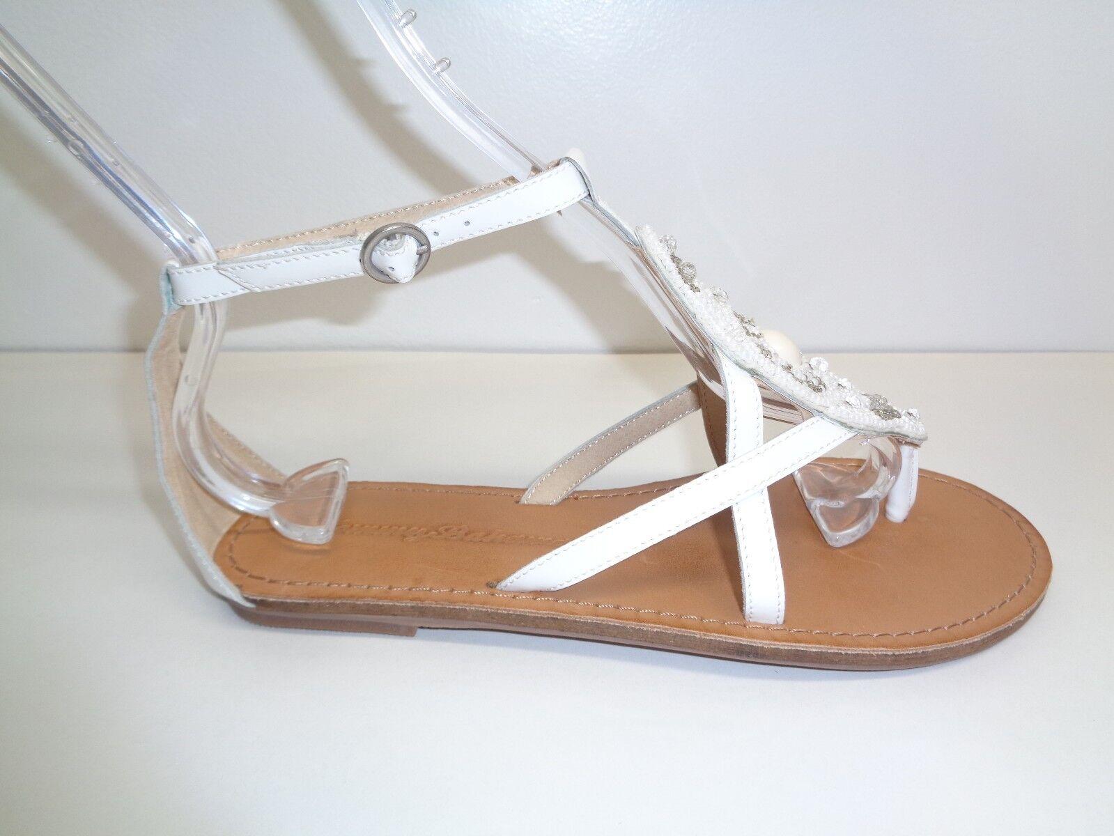 Tommy Bahama Größe 5 PRIMROSE WEISS Leder Beads Sandales NEU Damenschuhe Schuhes