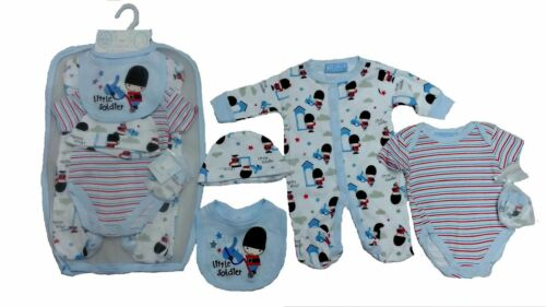 SIZE NB NEW BABY BOYS/' 5 PIECE LAYETTE SET 0-3 /& 3-6 MONTHS