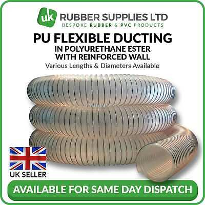 Clear Flexible Ducting Hose Pu Ventilation Woodworking Fume Dust Extraction Ebay