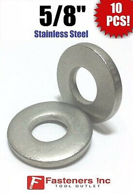 """3//4/"""" Stainless Steel THICK HEAVY DUTY SAE Flat Washers .175 Thick Qty 10"""