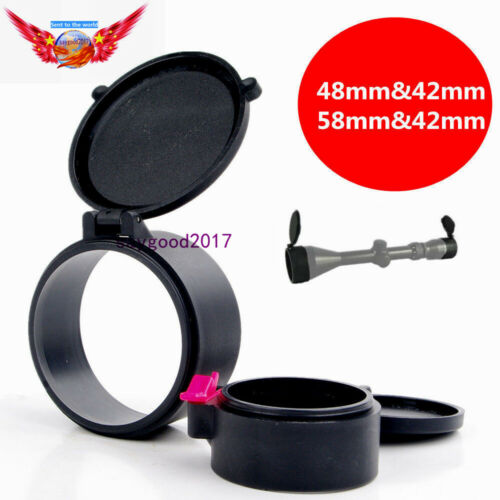 New 58mm/&42mm Dustproof Cover Caps Fit for 50mm Rifle Scope Sight Lens