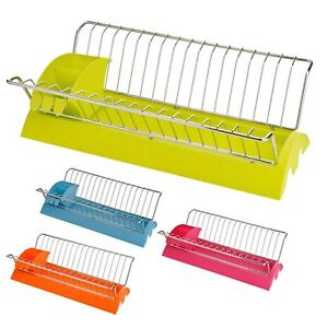 DISH-DRAINER-with-Removable-Cutlery-Caddy-KITCHEN-UTENSIL-RACK-TIDY