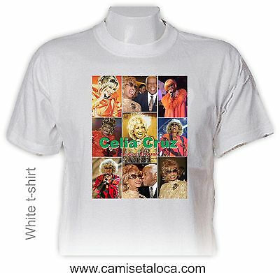 CELIA CRUZ Tshirt - SINGER, ACTRESS, CUBAN  - PICTURE/COLLAGE